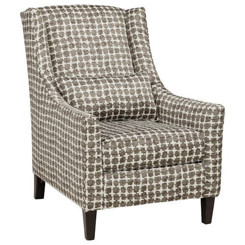 Benchcraft Lainier Contemporary Wing Back Accent Chair in Abstract Geometric Fabric