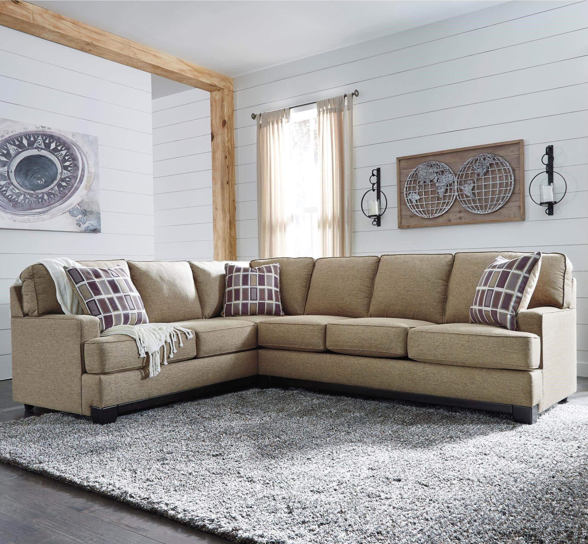 Benchcraft Larkhaven Contemporary 2 Piece Sectional With Right Sofa