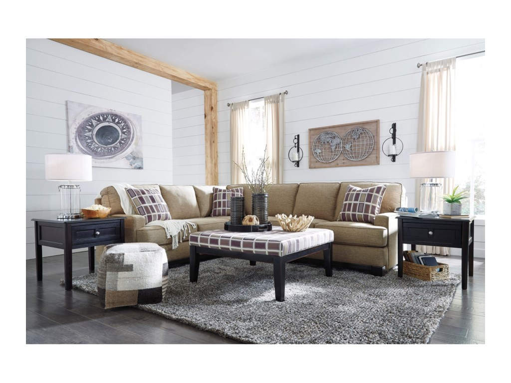 Benchcraft Larkhaven2-Piece Sectional with Right Sofa