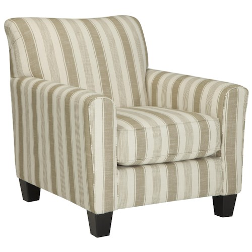 Benchcraft Laryn Accent Chair with Neutral Stripe Fabric