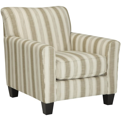 Benchcraft Layrn Accent Chair with Neutral Stripe Fabric