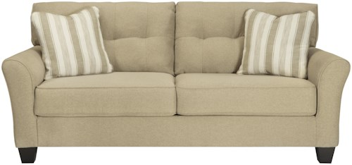 Benchcraft Layrn Contemporary Queen Sofa Sleeper in Khaki Fabric