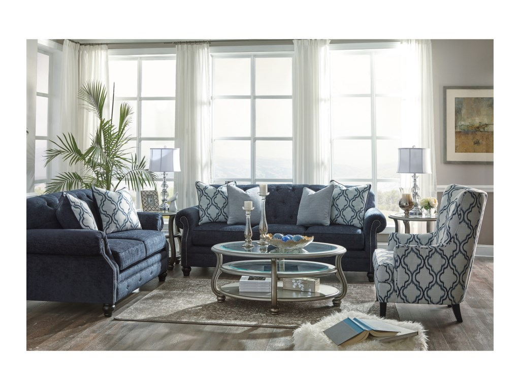 Benchcraft by Ashley LaVernia Stationary Living Room Group | Royal ...