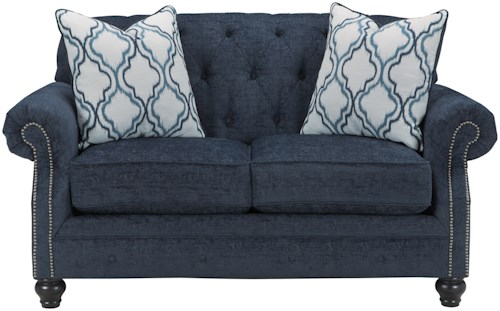 Benchcraft LaVernia Transtional Loveseat with Tufted Back