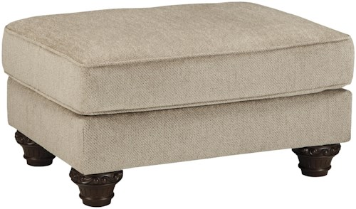 Benchcraft Laytonsville Ottoman with Traditional Turned Feet