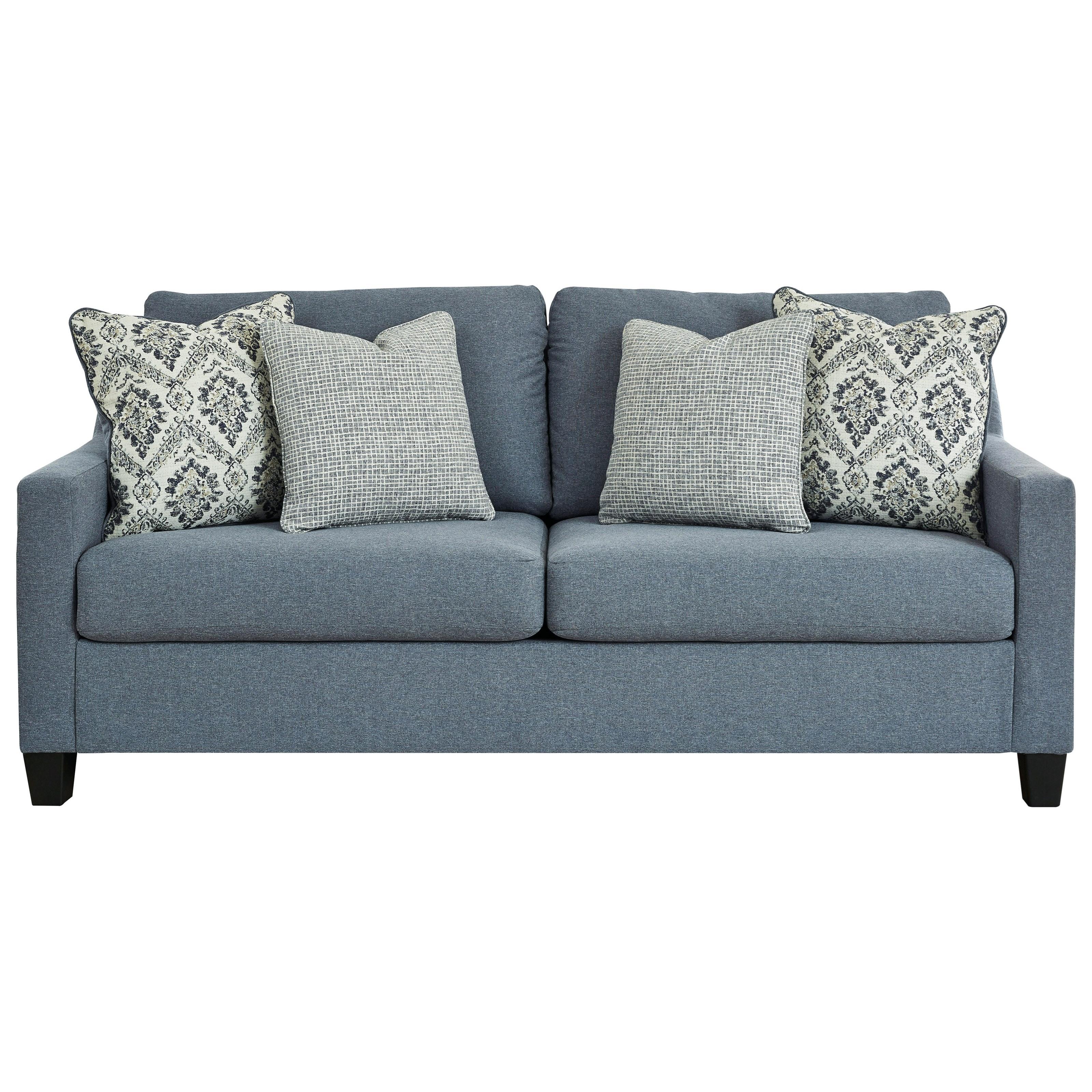 Contemporary Sofa in Blue Fabric