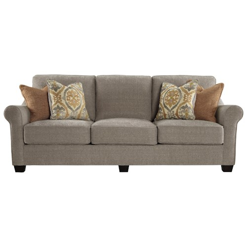 Benchcraft Leola Contemporary Sofa with Reversible UItraPlush Seat Cushions