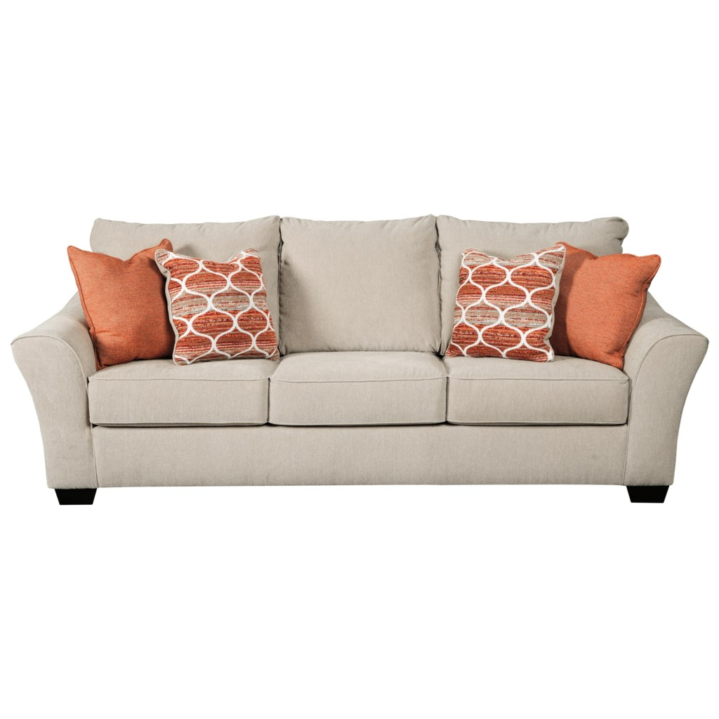 Benchcraft lisle nuvella 1120139 queen size sofa sleeper in performance fabric dunk bright furniture sleeper sofas