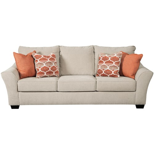Benchcraft Lisle Nuvella Queen Size Sofa Sleeper in Performance Fabric