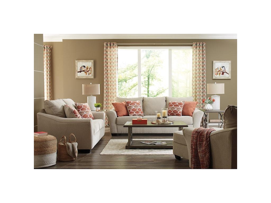 Benchcraft Lisle NuvellaQueen Size Sofa Sleeper