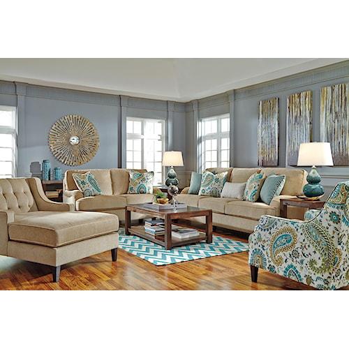 Benchcraft Lochian Stationary Living Room Group