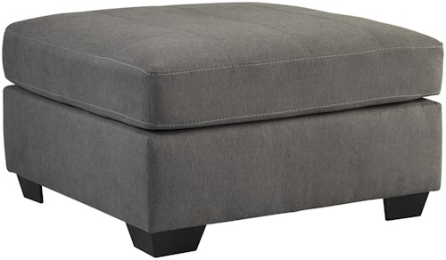 Benchcraft Maier - Charcoal Contemporary Square Oversized Accent Ottoman