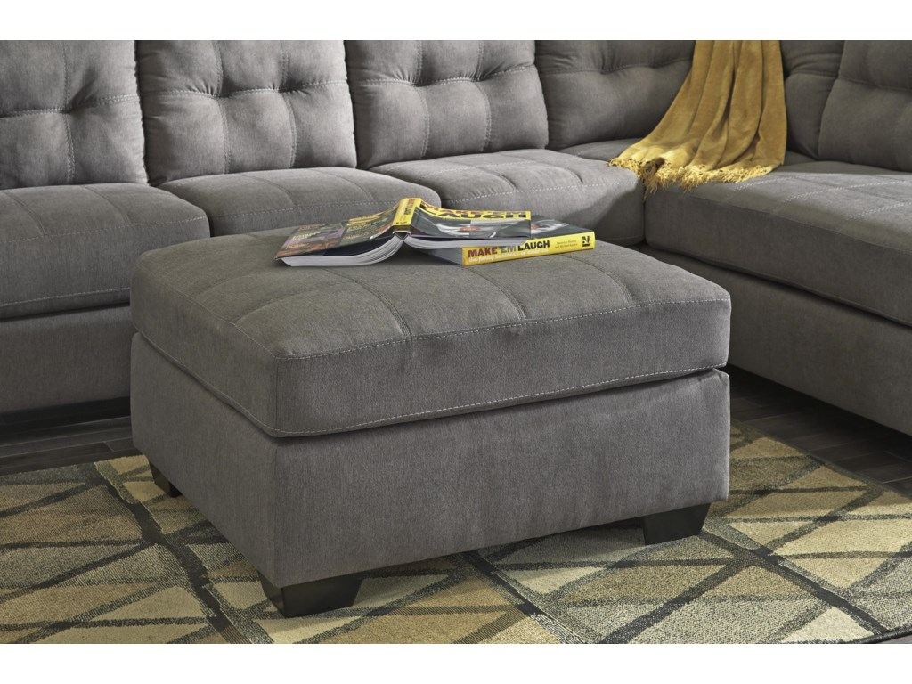 Benchcraft by Ashley Maier - CharcoalOversized Accent Ottoman