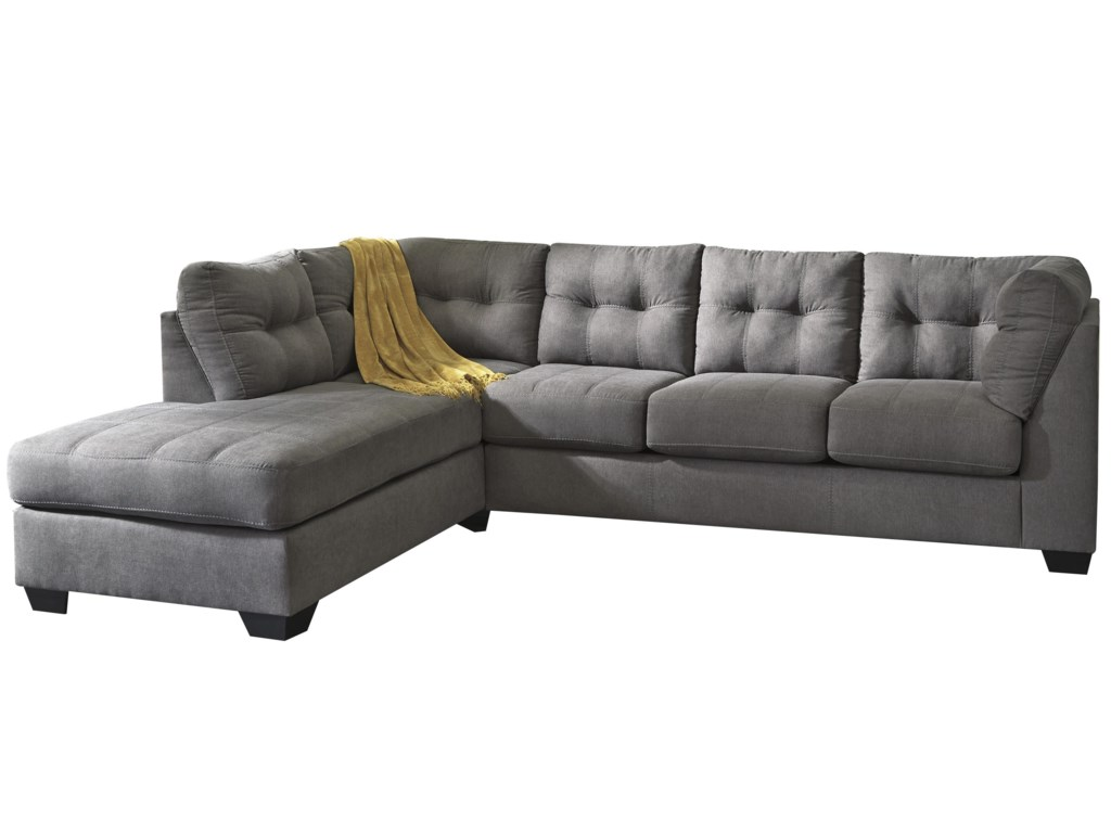 Trendz Malcolm - Charcoal2-Piece Sectional with Left Chaise