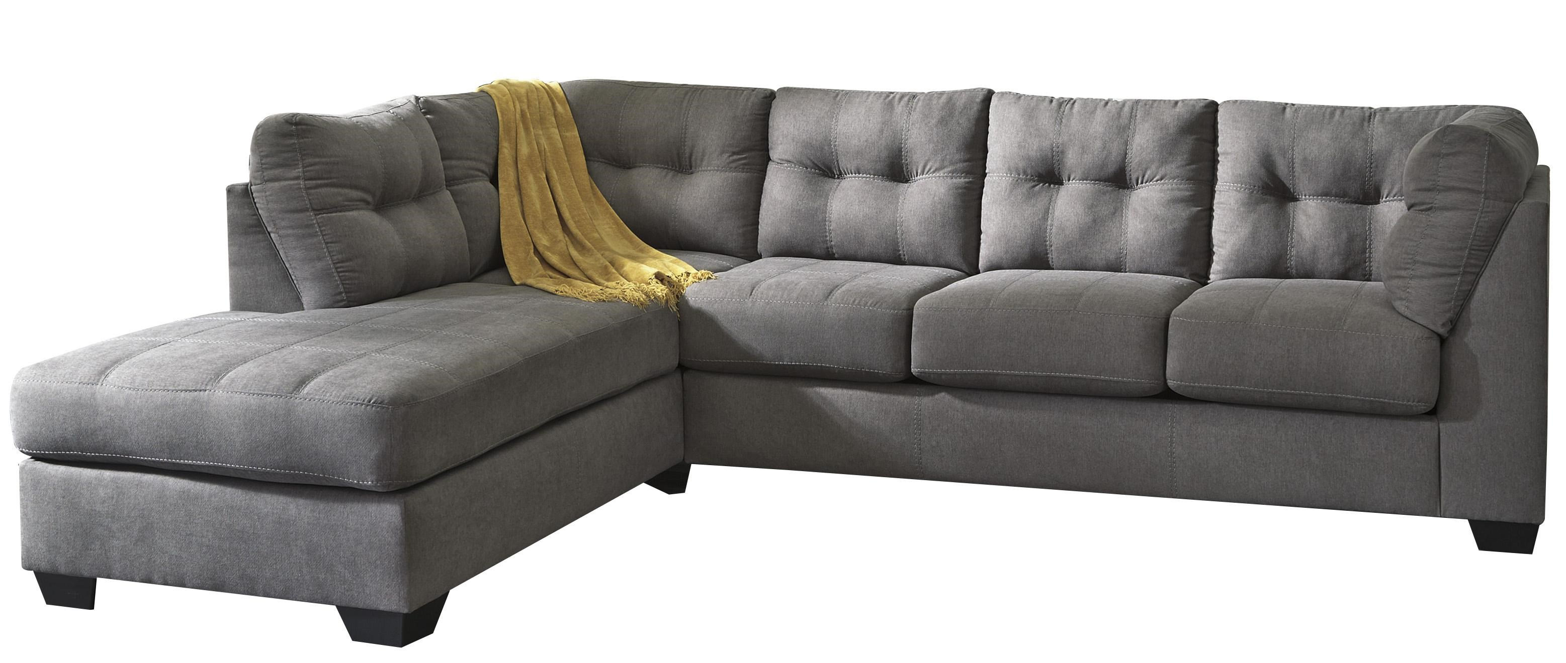 Trendz Malcolm   Charcoal2 Piece Sectional With Left Chaise ...