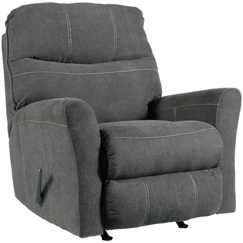 Benchcraft Maier - Charcoal Casual Contemporary Rocker Recliner