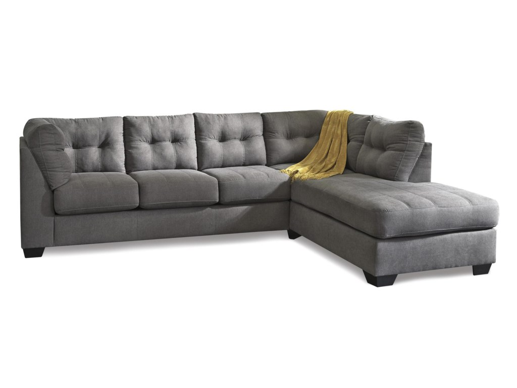 Benchcraft Jody Charcoal2 Piece Sectional With Right Chaise