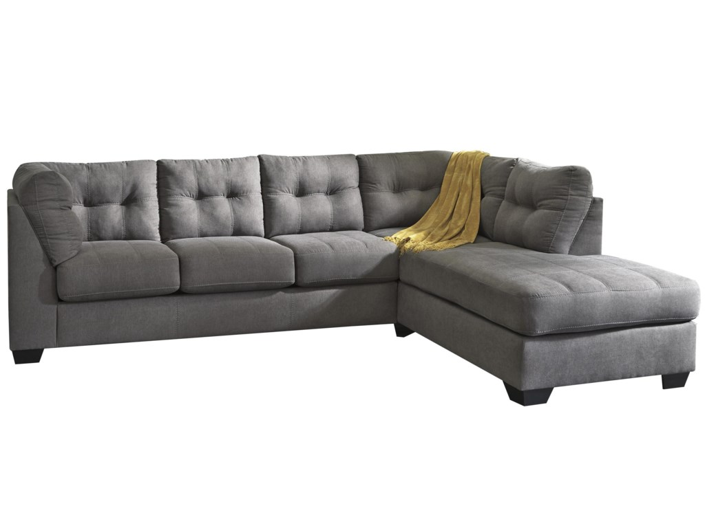 Trendz Malcolm - Charcoal2-Piece Sectional with Right Chaise