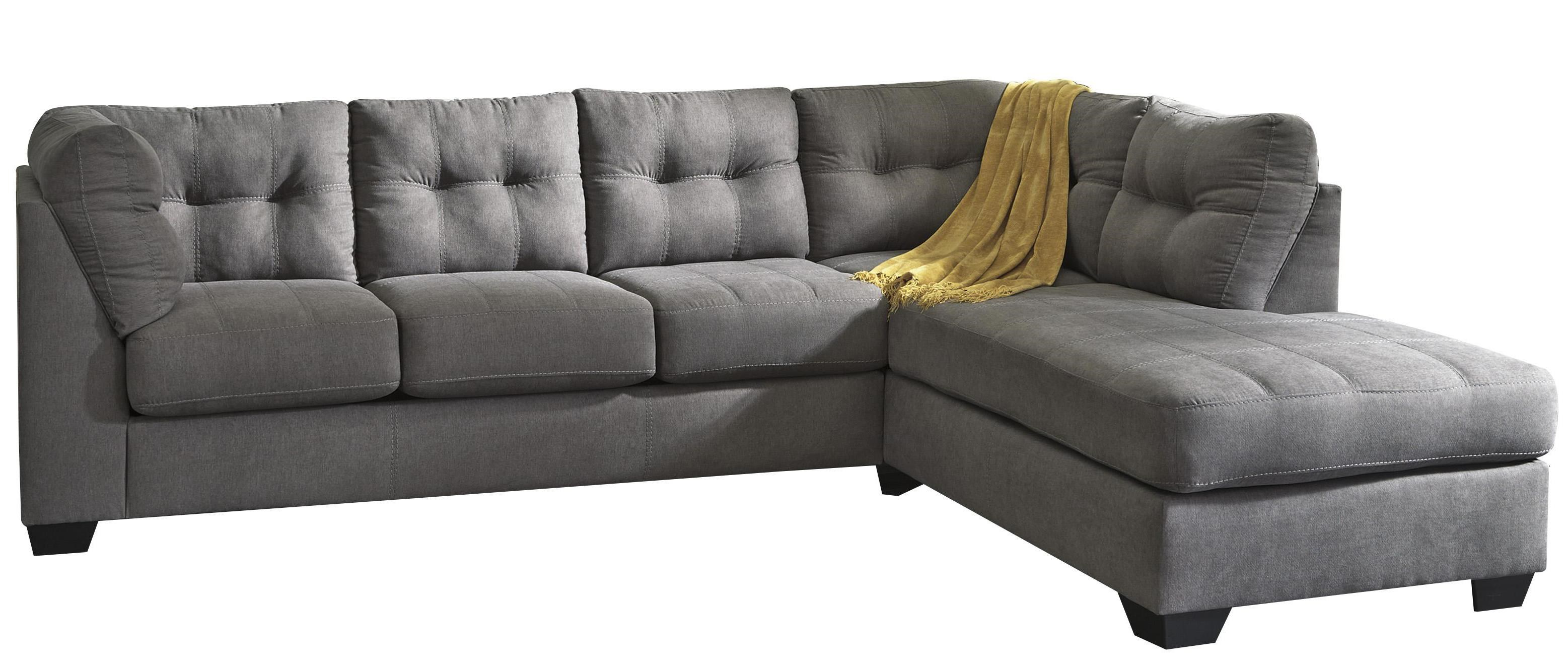 Trendz Malcolm   Charcoal2 Piece Sectional With Right Chaise ...