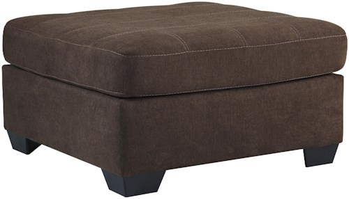 Benchcraft Maier - Walnut Contemporary Square Oversized Accent Ottoman