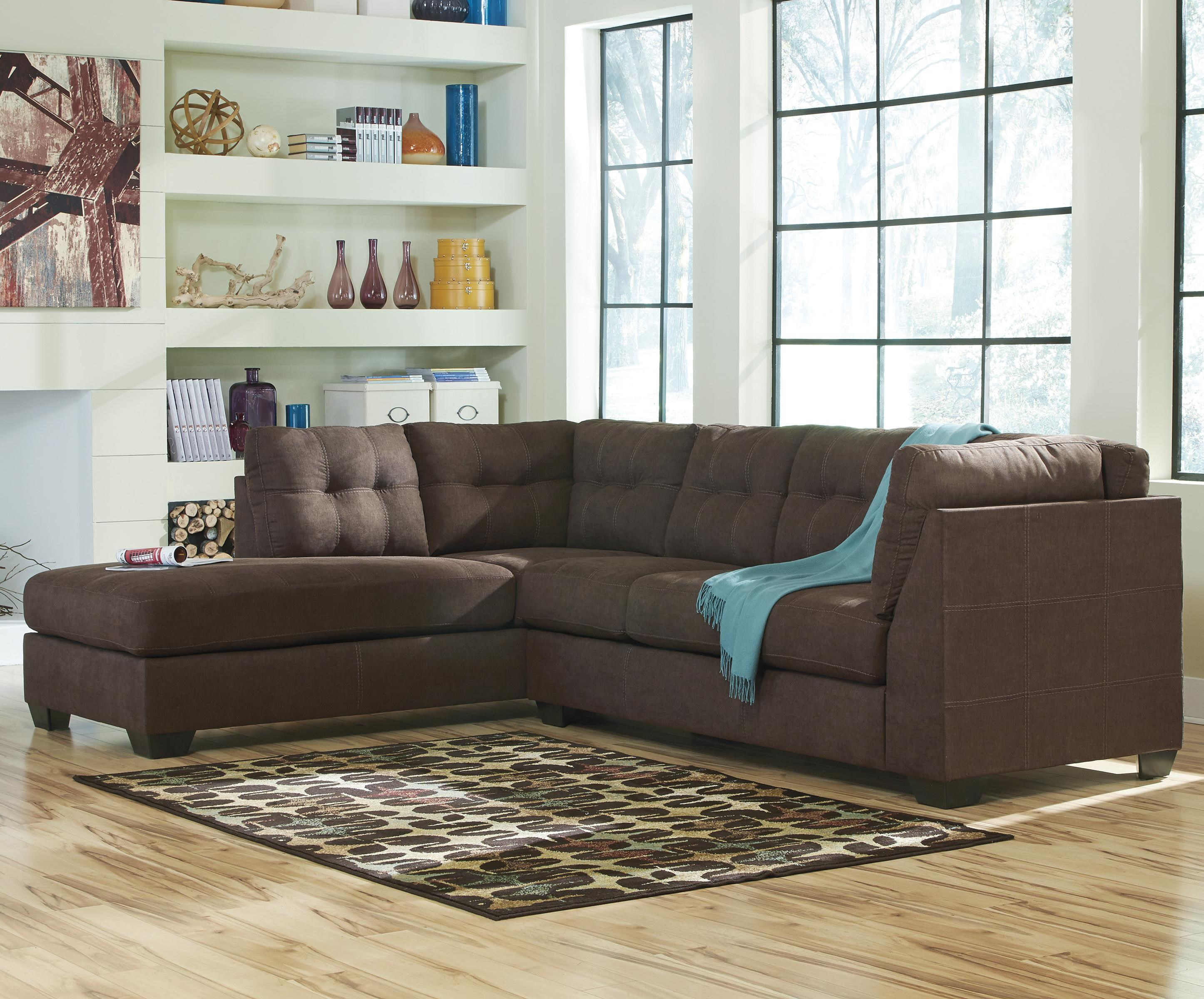 Benchcraft By Ashley Maier   Walnut2 Piece Sectional With Left Chaise ...