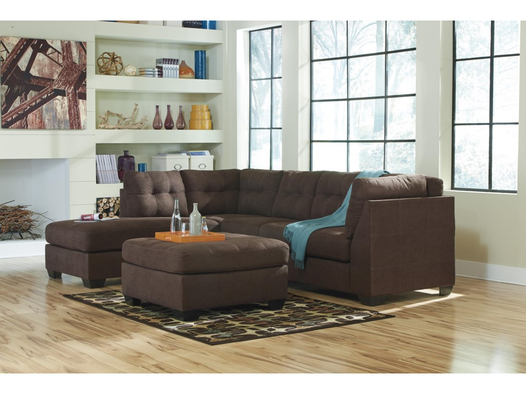 Benchcraft Maier - Walnut2-Piece Sectional with Left Chaise