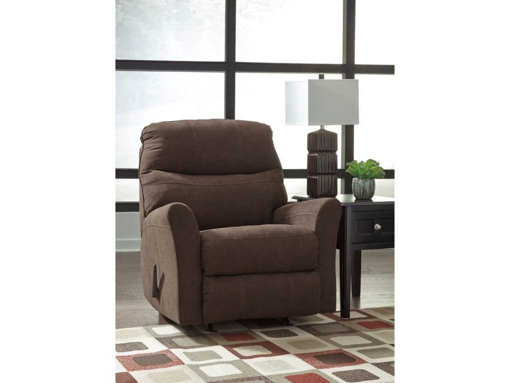 Signature Design By Ashley Maier - WalnutRocker Recliner