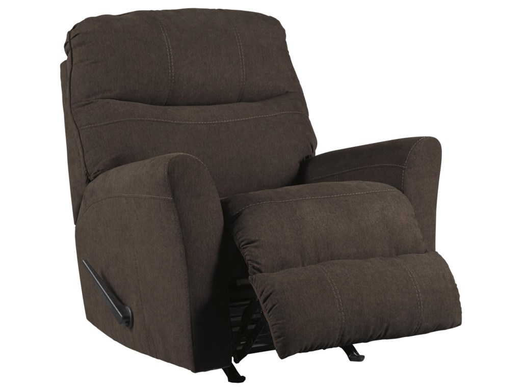 Benchcraft Maier - Walnut2 PC Sectional and Recliner Set