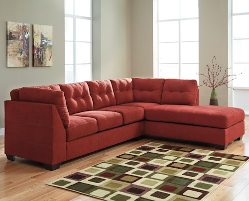 Benchcraft mayberry 2 piece sectional w sleeper sofa for Benchcraft chaise lounge