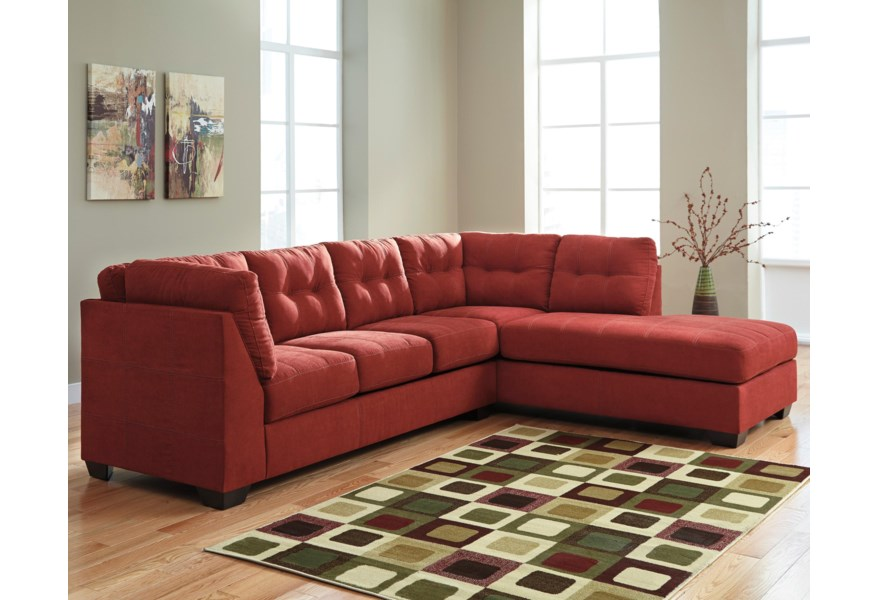 Maier - Sienna 2-Piece Sectional w/ Sleeper Sofa & Right Chaise by  Benchcraft at Miller Waldrop Furniture and Decor