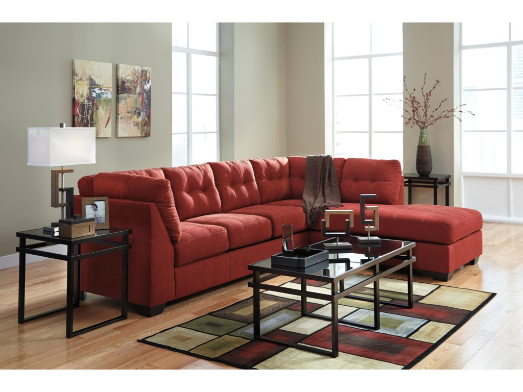 Signature Design By Ashley Maier - Sienna2-Piece Sectional w/ Sleeper Sofa & Chaise
