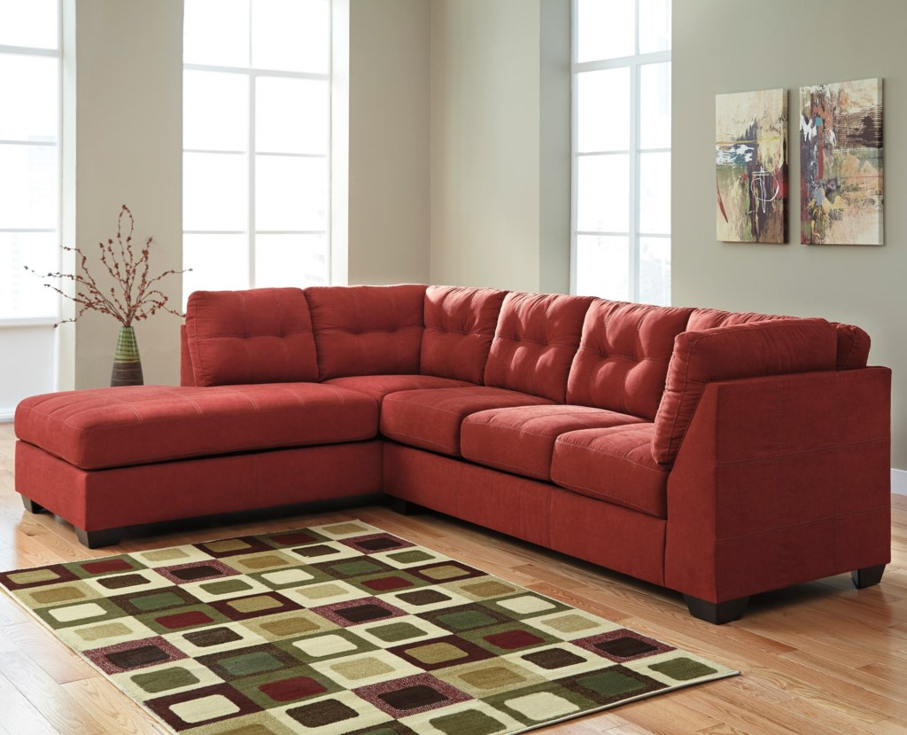 Benchcraft Maier Sienna 2 Piece Sectional with Left Chaise