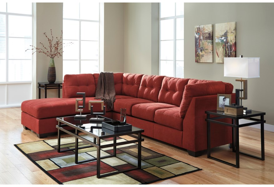 Superb Benchcraft By Ashley Maier Sienna 2 Piece Sectional With Beatyapartments Chair Design Images Beatyapartmentscom