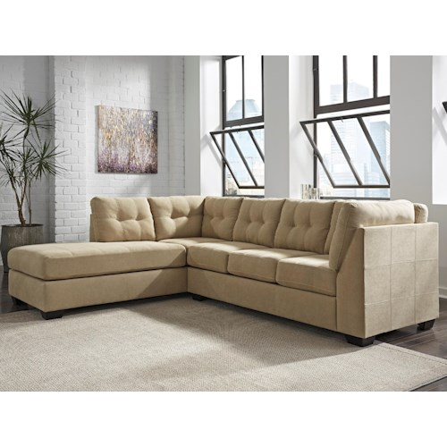 Benchcraft Maier - Cocoa 2-Piece Sectional with Left Chaise