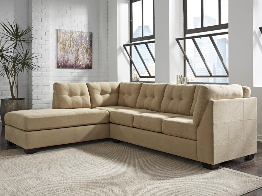 Benchcraft Maier Cocoa 2 Piece Sectional with Left Chaise Dunk
