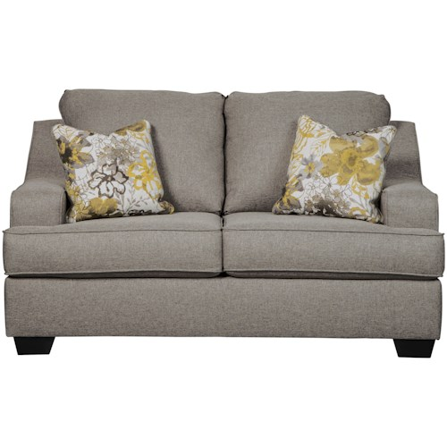 Benchcraft Mandee Loveseat with Contemporary Style