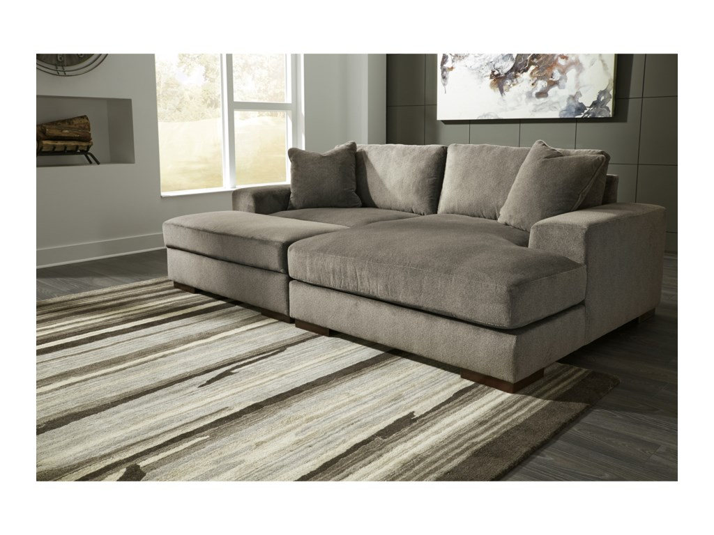 Manzani Contemporary 3 Piece Sectional With Ottoman By Benchcraft At Crowley Furniture Mattress