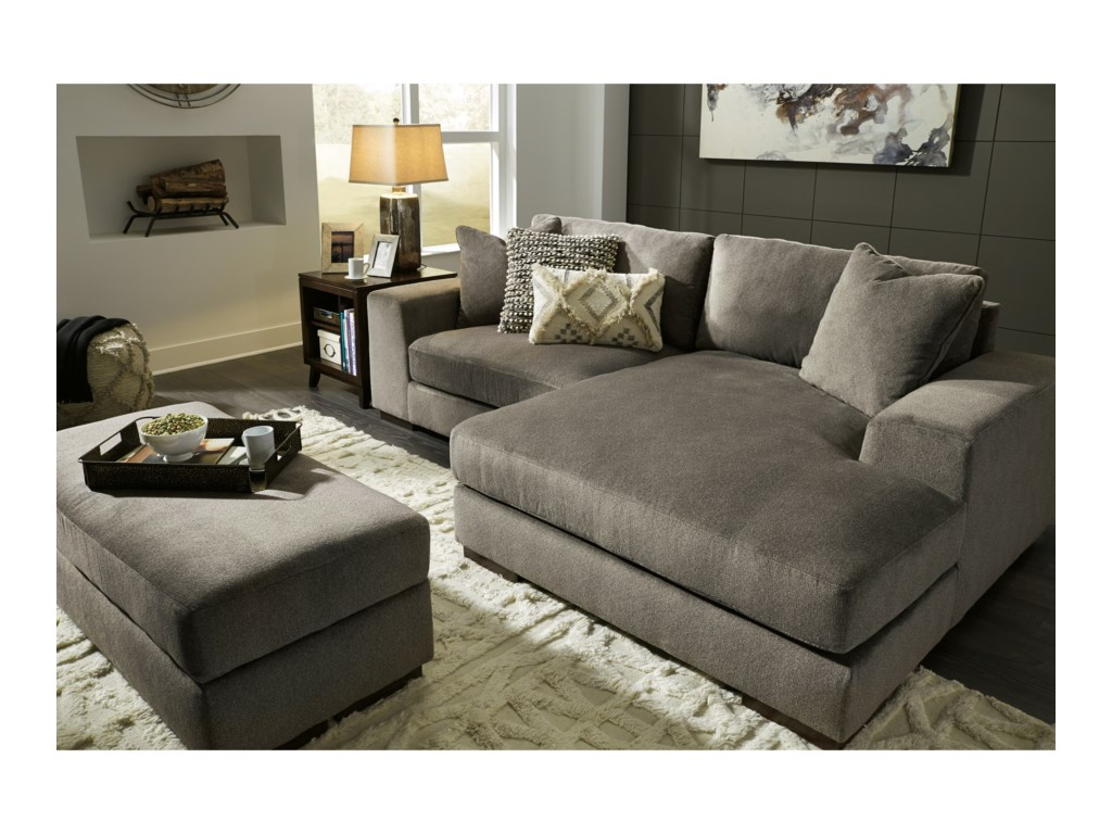 Benchcraft Manzani Contemporary 2-Piece Sectional with Chaise | Dunk ...