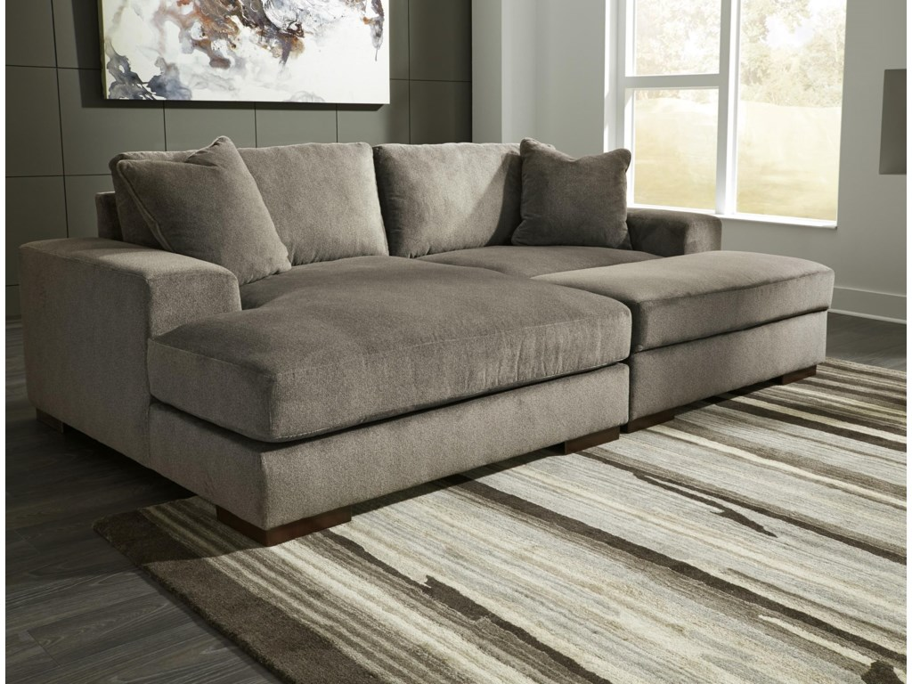 Manzani Contemporary 3 Piece Sectional With Ottoman By Benchcraft At Rooms And Rest
