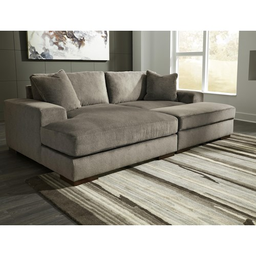 Sectional Sofas Birmingham Al: Benchcraft Manzani Contemporary 3 Piece Sectional With