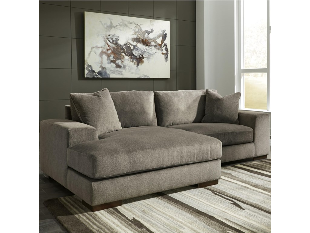 Manzani Contemporary 2-Piece Sectional with Chaise by Benchcraft at Value  City Furniture