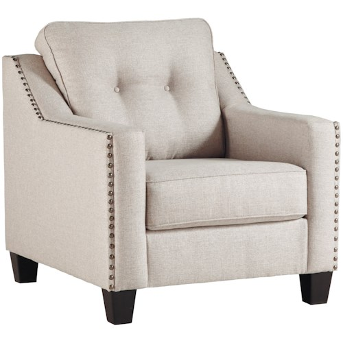 Benchcraft Marrero Contemporary Chair with Nailhead Trim