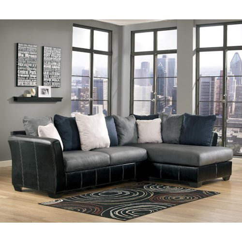 Benchcraft Masoli - Cobblestone 2-Piece Sectional with Right Chaise