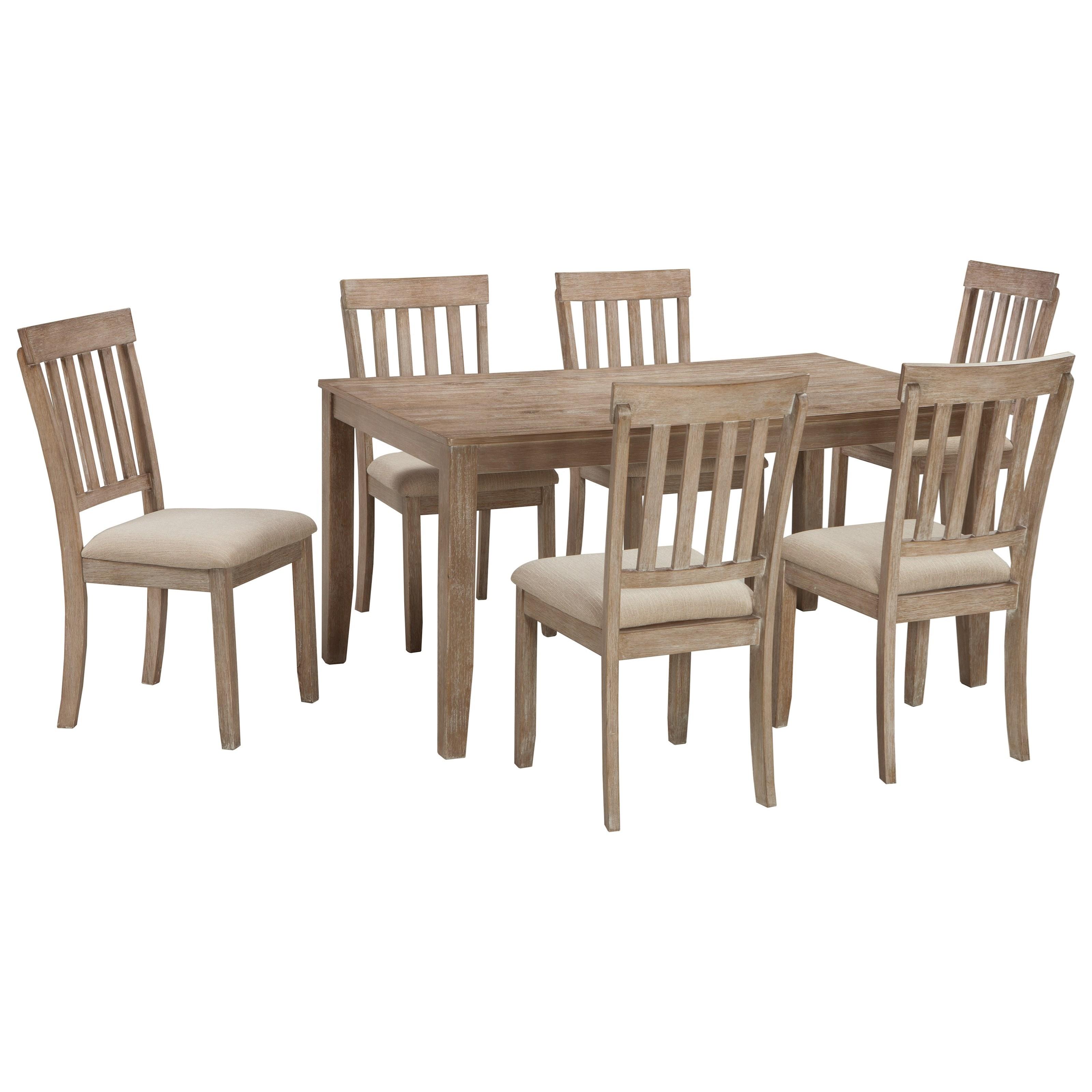 Benchcraft by Ashley MattiloneDining Room Table Set ...  sc 1 st  Royal Furniture & Benchcraft by Ashley Mattilone Casual Dining Room Table Set with 6 ...