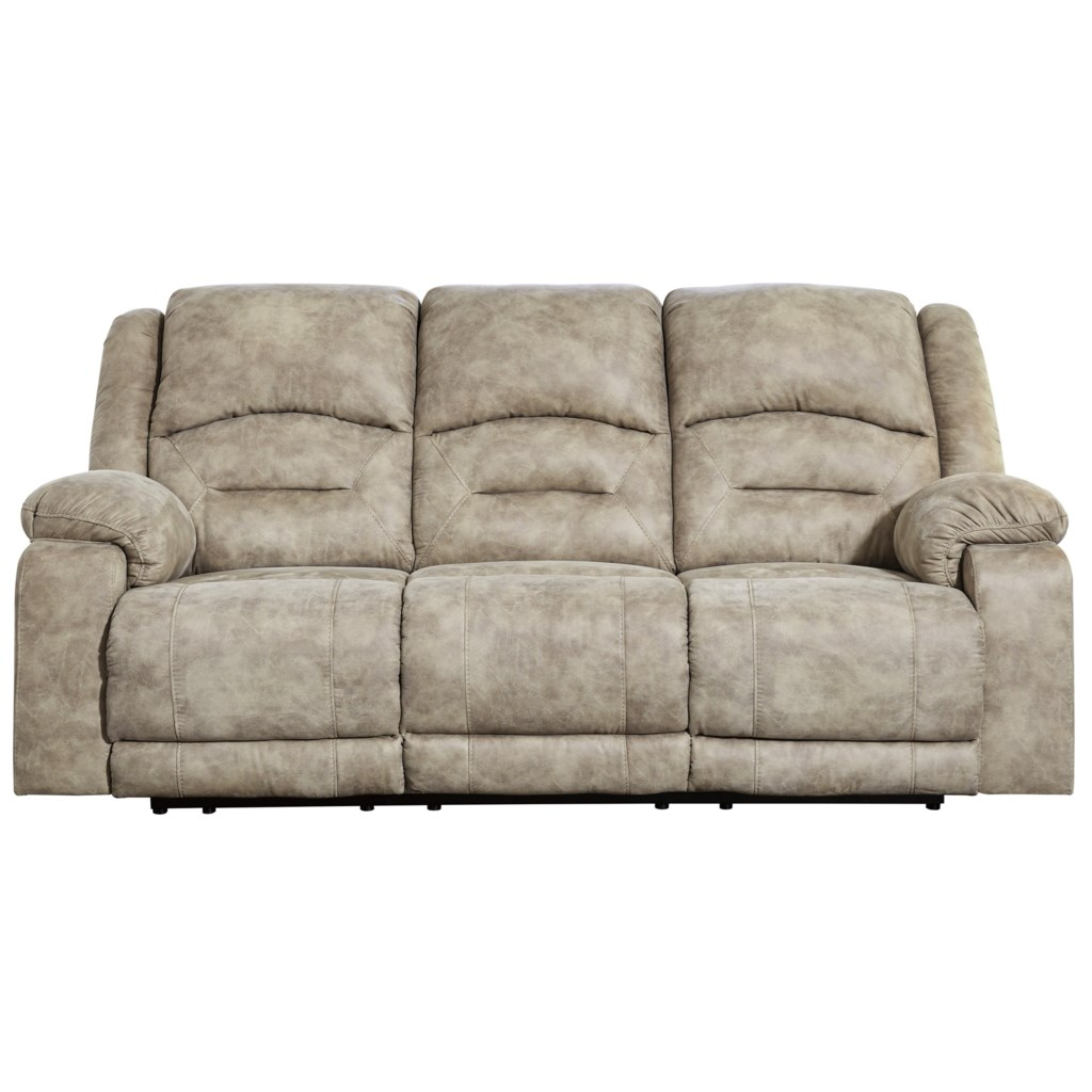 Benchcraft Mcginty 5410115 Power Reclining Sofa With Adjustable
