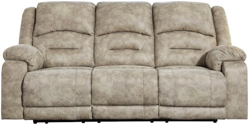 Benchcraft McGinty Power Reclining Sofa with Adjustable Headrest