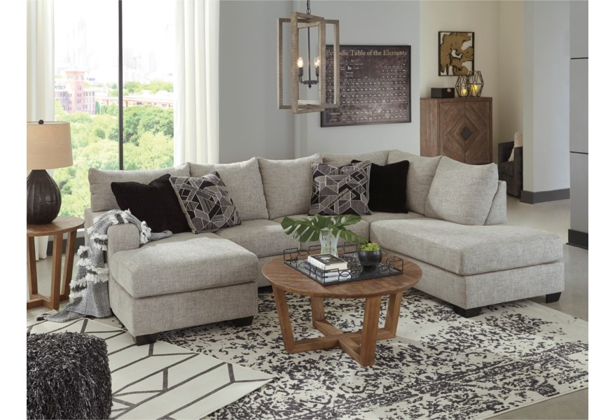 Benchcraft Megginson 123445948 U Shaped Sectional With Two Chaises Beck S Furniture Sectional Sofas