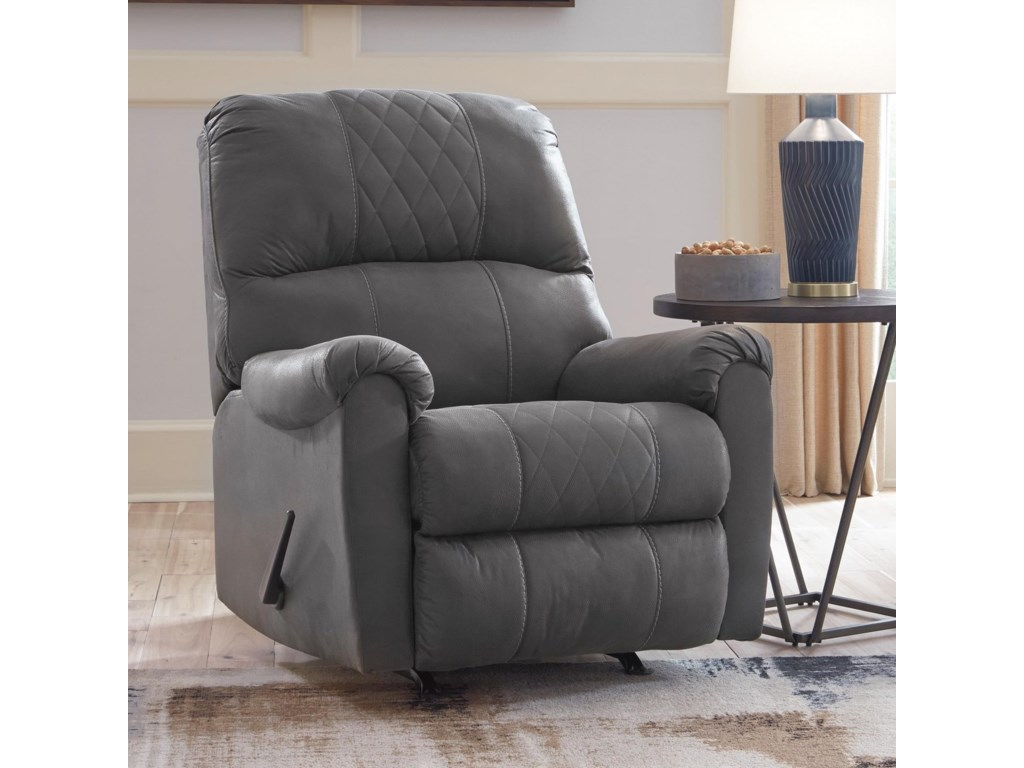 Benchcraft NarzoleRecliner with Rocker Base