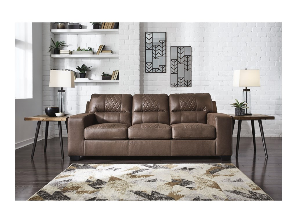 Benchcraft NarzoleSofa Sleeper with Queen Memory Foam Mattress
