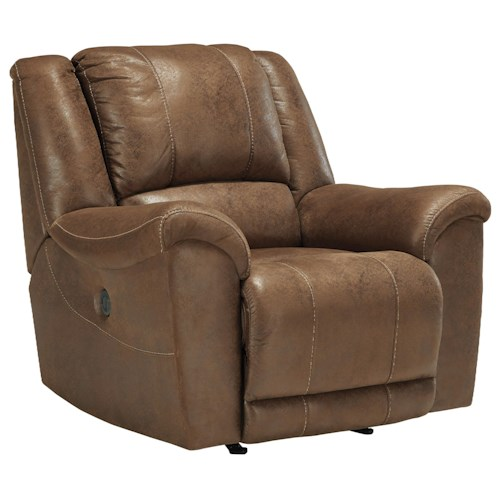 Benchcraft Niarobi Contemporary Faux Leather Rocker Recliner